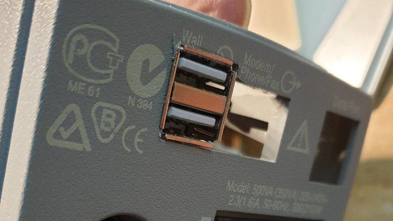 APC USV versorgt Raspberry per USB